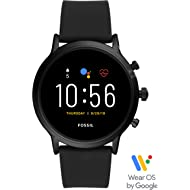 Gen 5 Carlyle Stainless Steel Touchscreen Smartwatch with Speaker, Heart Rate, GPS, NFC, and...