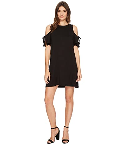 kensie Drapey French Terry Dress KS1K7541 (Black) Women