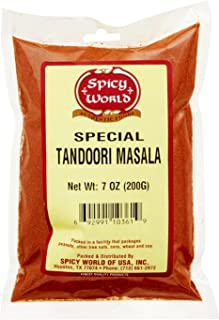 Spicy World Tandoori Masala Spice 7 Oz - 15 spice blend - Natural, No Colors Added
