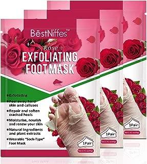 3 Pack Foot Peel Mask, Exfoliating Foot Masks, Natural Exfoliator for Dry Dead Skin, Callus, Repair Rough Heels for Men Women