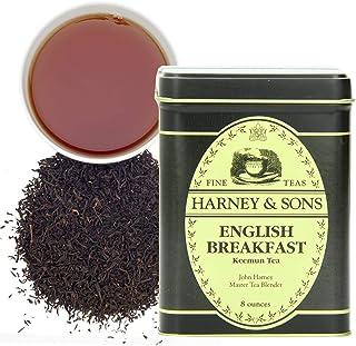Harney & Sons English Breakfast Black Tea, Loose leaf tea in tin (12132) English Breakfast, ,8 Ounce loose ,8 Ounce