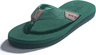 FITORY Men's Flip-Flops Thongs Comfort Slippers for Beach/Pool