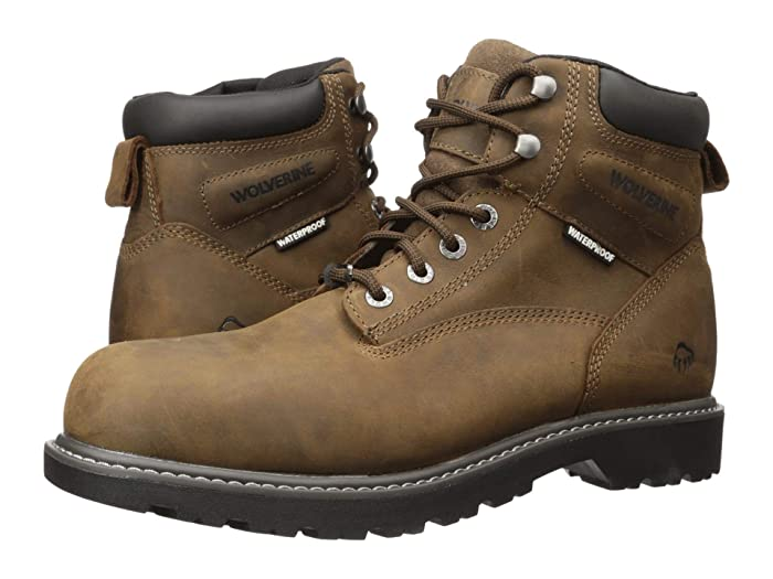Wolverine  Floorhand Steel Toe Puncture Resistant 6 Boot (Summer Brown) Mens Work Lace-up Boots