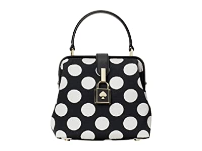 Kate Spade New York Remedy Bikini Dot Small Top-Handle (Black Multi) Handbags