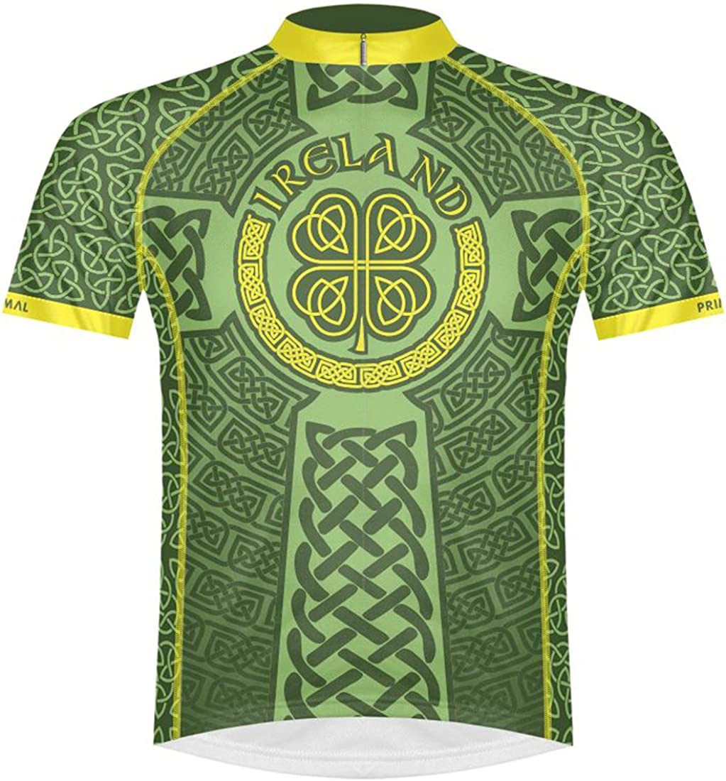 Primal Wear Milwaukee Mall Ireland Celtic Knot Short Cycling Men's Time sale Jersey Sleev
