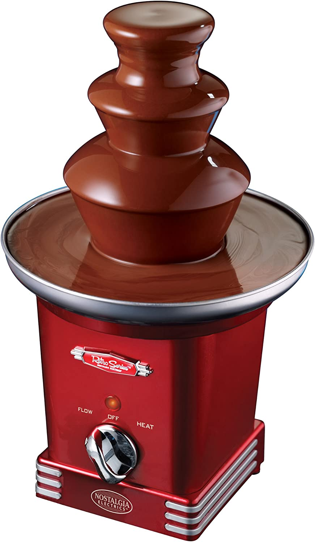 Max 76% OFF Nostalgia RFF600RETRORED Retro Series online shop 3-Tier Chocolate Fountain