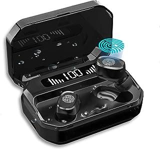 LJ-EXPLOSIVE Audifonos Bluetooth Inalambricos,con Bluetooth 5.0 Deportivos IPX7 Impermeable,Reduce el Ruido,Estéreo a Prue...