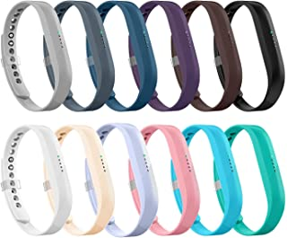 LEEFOX 12 Colors Bands for Fitbit Flex 2, Replacement Band for Fitbit Flex 2 Accessories Silicon Wristbands w/Fastener Clasp Fitness Strap for Original Fitbit Flex 2, No Tracker