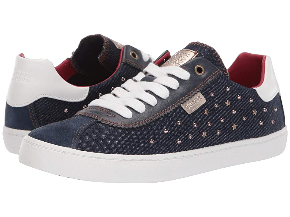 Geox Kids Kilwi Girl 41 (Big Kid) (Navy) Girl