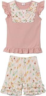 Little Girls - Conjunto de 2 piezas de pantalones cortos de capris para niños