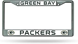 Rico Industries NFL Green Bay Packers Colored Chrome Plate Frame, Dark Green