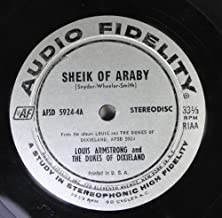 Louis Armstrong and The Dukes of Dixieland 45 RPM Sheik of Abraby / Wolverine Blues