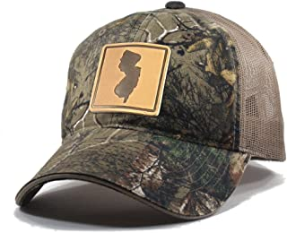 Homeland Tees Men's New Jersey Leather Patch Camo Trucker Hat