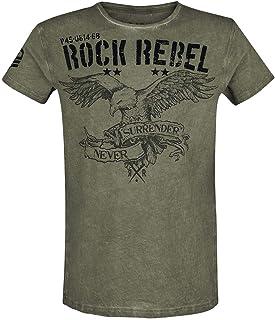 Rock Rebel by EMP Rebel Soul Hombre Camiseta Verde, Regular