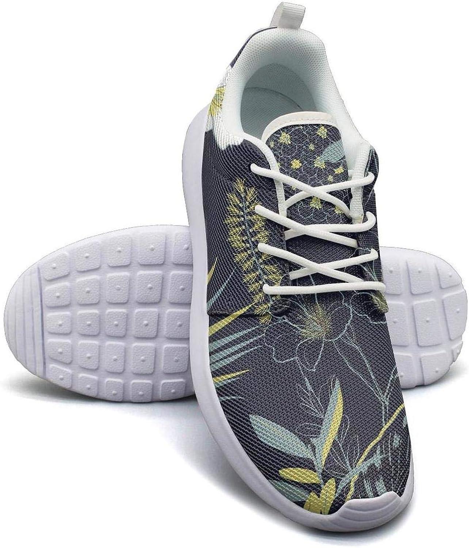 CHALi99 Fashion Woman Lightweight Mesh shoes Tropical Floral Garden Flourish Garden Loafers Running Soft Sole