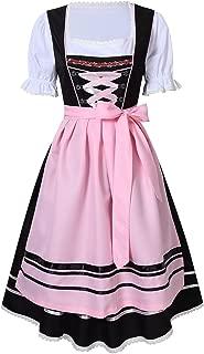 RaiFu レディース ワンピース ドレス 刺繍 綿高率 バイエルン オクトーバーフェスト衣装 祭り衣装 2セット 38 ブラック
