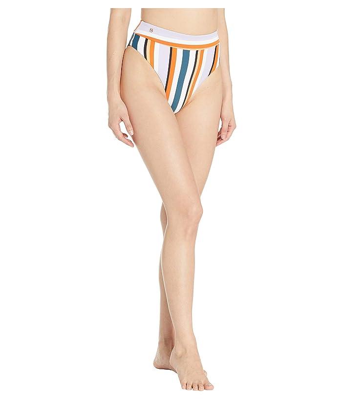Maaji Circlet Beautiness High-Waist Bottoms (Orange Multi Stripe) Women