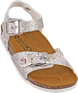 012-334 Biochic Girls Sandals Glitter Grey