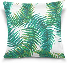 "MASSIKOA Exotic Tropical Leaves Decorative Throw Pillow Case Square Cushion Cover 20"" x 20"" for Couch, Bed, Sofa or Patio ..."