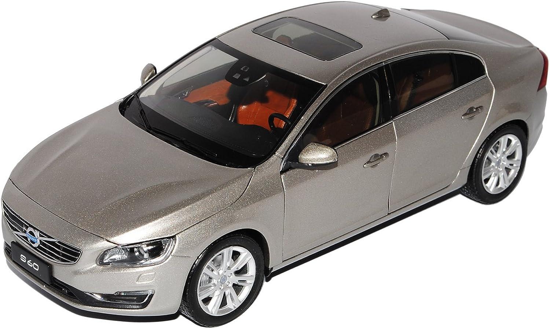 Unbekannt Volvo S60 Typ Y20 Limousine Seashell Beige Silber 2. Generation Ab 2010 Ab Facelift 2013 1 18 Motor City Modell Auto mit individiuellem Wunschkennzeichen