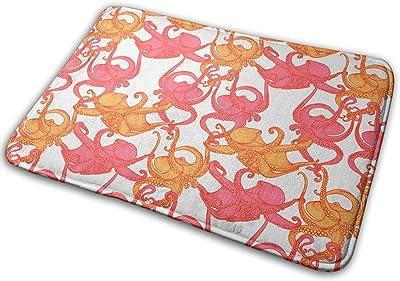 Conjoined Octopus Carpet Non-Slip Welcome Front Doormat Entryway Carpet Washable Outdoor Indoor Mat Room Rug 15.7 X 23.6 inch