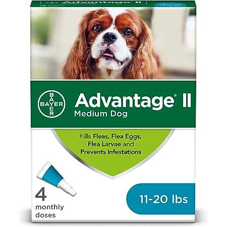 Tratamiento tópico contra pulgas de perros Bayer Advantage II, Negro/Gris