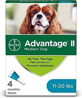 Advantage II Medium Dog Flea Prevention, Topical Flea Treatment for Dogs 11-20 Pounds