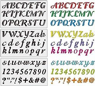 Alphabet Stencils Reusable Hamkaw Creative Painting Letter Stencils Kit, Art Alphabet Stencils for Coffee Shops, Hotels, Street Signs
