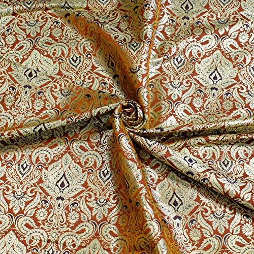 types of brocade fabric