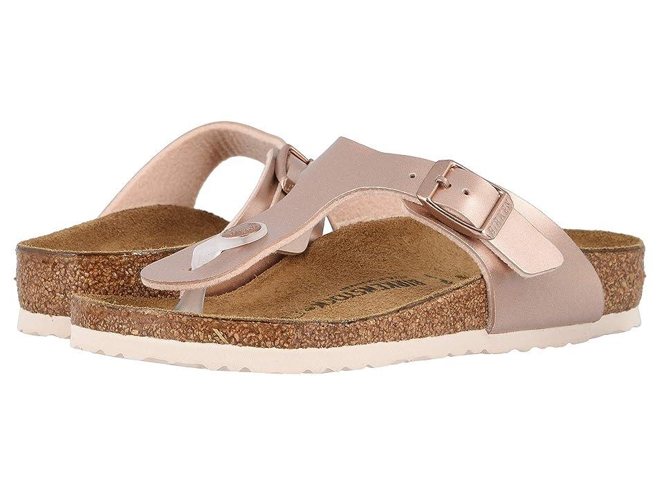 Birkenstock Kids Gizeh (Little Kid/Big Kid) (Electric Metallic Copper) Girls Shoes