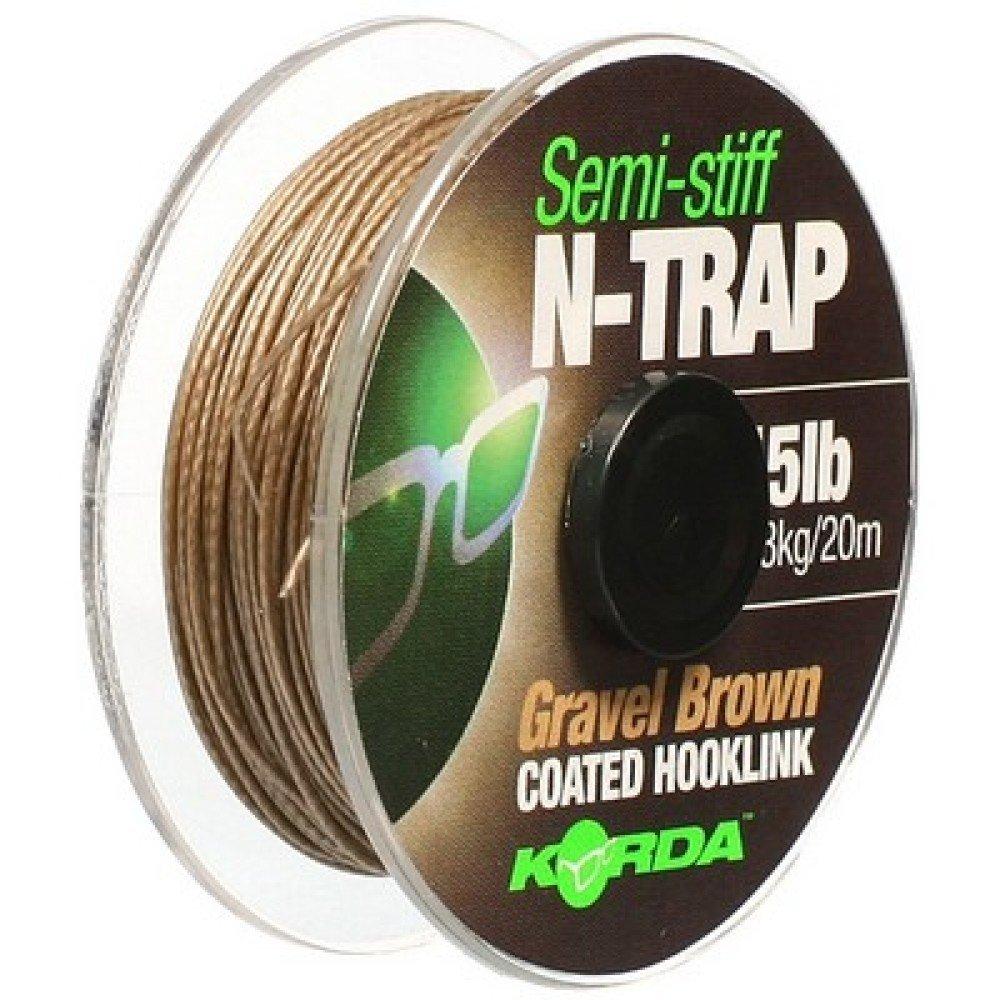 Korda Braided Coated N-Trap Semi-Stiff 20 lb Gravel