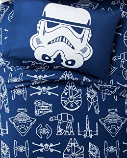 Star Wars Blue & White Icon Sheet Set (Twin)
