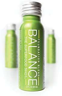 Green Superfood Shot, Organic Fruits, Root Vegetables, Kale & More, 2oz Daily Green Drink to Take on The Go, Smoothie Juic...