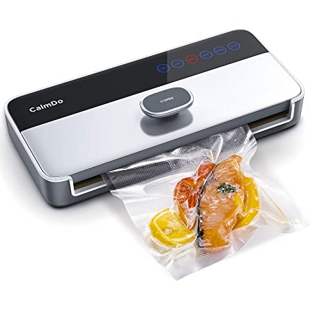 CalmDo Vacuum Sealer Machine, Food Vacuum Air Sealing System with Full Automatic Bag Sealing Technology for Food Saver Storage, Perfect Mother Day Gift