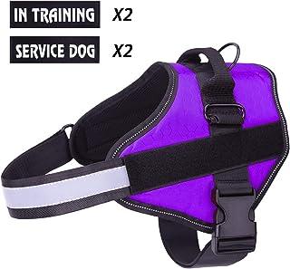 Harnais pour chien violet Coffre daide /à lentra/înement /à la marche Harnais pour chien respirant sans traction r/églable Contr/ôle facile en ext/érieur pour les petits chiens de taille moyenne