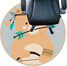 تحت حصيرة كرسي عالٍ، مقاومة للبلى، صامتة، قاعدة غير منزلقة، سجادة سهلة التنظيف للمكتب والمنزل (اللون: A، الحجم: 80 سم (31....