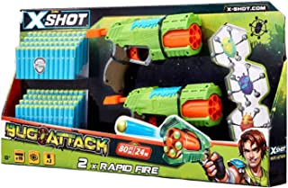 Zuru X-Shot Bug Attack Double Rapid Fire With 3 Bugs And 96 Darts (4835)
