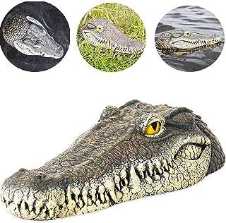 Peedeu 13-Inch Floating Alligator Decoy,Alligator Head Floating Decoy for Pool, Pond, Garden and Patio