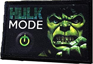 Hulk Mode Morale Patch. Perfect for your Tactical Military Army Gear, Backpack, Operator Baseball Cap, Plate Carrier or Vest. 2x3