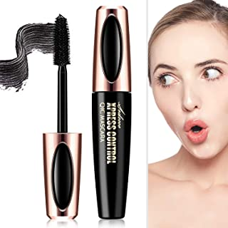 4D Silk Fiber Lash Mascara, Fiber Mascara, 4D Silk Fiber Eyelash Mascara, Best for Thickening & Lengthening,Waterproof,Long-Lasting,Lasting All Day, Waterproof, Smudge Proof Eyelashes