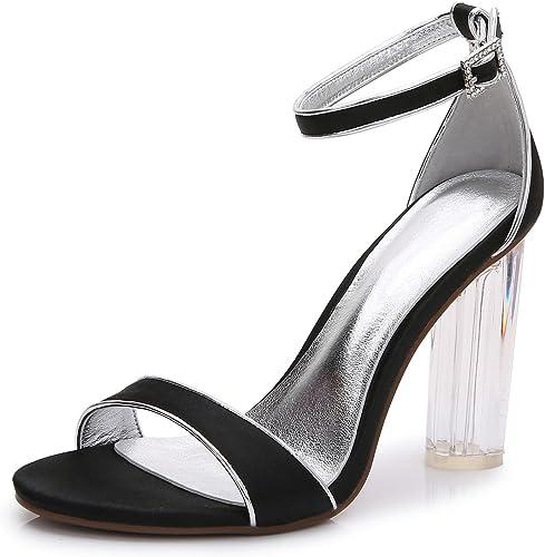 L@YC zapatos De Boda para mujer Crystal S-2615-14 Tacones De plataforma Rugosa Y Tardes Y zapatos Profesionales De Gran Tamaño