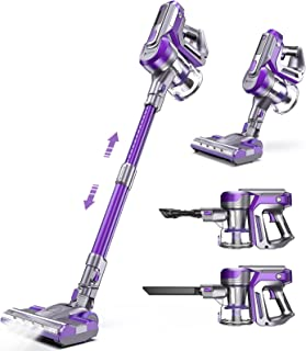 Hosome Cordless Vacuum Cleaner, 22KPa Handheld Stick Vacuum 4 in 1 Vacuum Cleaner Removable Battery 45 Mins Run Time, LED,...
