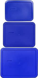 Pyrex (1) 7212-PC 11 Cup (1) 7211-PC 6 Cup (1) 7210-PC 3 Cup Cobalt Blue Food Storage Lids - 3 Pack
