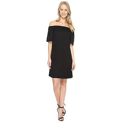 Calvin Klein Off the Shoulder Dress (Black) Women