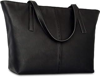 Expatrié Handtasche Damen Groß MANON Große Schultertasche aus veganem Leder - Shopper Ledertasche Umhängetasche - Elegante...