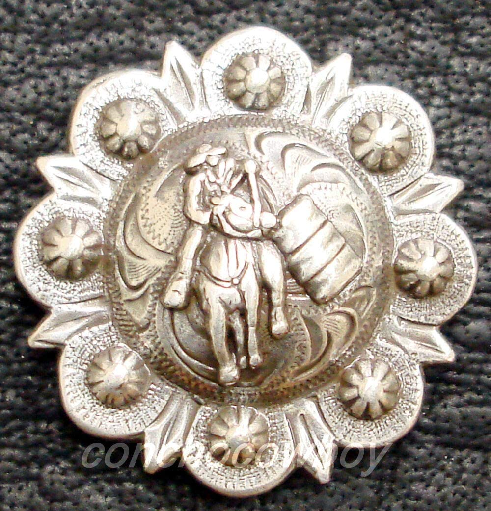 Ranking TOP13 Conchos Leathercraft Accessories Long-awaited Set of WESTRN Saddle 6 TACK Ant
