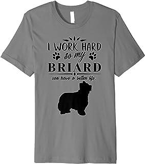 I work hard..., Funny Dog Gift Idea, Funny Briard Premium T-Shirt