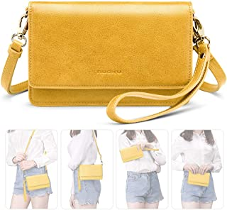 Women Small Crossbody Bag Cellphone Purse Wallet with RFID Card Slots 2 Strap Wristlet(Max 6.5'') …