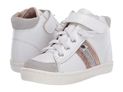 Old Soles Glambo High Top (Toddler/Little Kid) (Snow/Glam Copper/Glam Argent/Copper) Girl