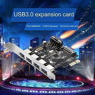 قطع غيار وملحقات ODIN-- محول بطاقة توسيع سطح المكتب PCI-E إلى USB3.0 محول USB 4 منافذ مع دعامة أمامية للماسحات الضوئية وال...